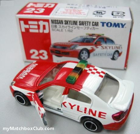 TOMY,Tomica Nissan Skyline,Safety-Car,myMatchboxClub.com