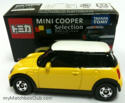 TOMICA-Takara-Tomy-Mini-Cooper-Selection-yellow-Japan